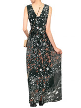Load image into Gallery viewer, Cross Belt Maxi Dress, Dark Green