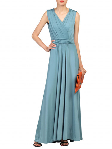 Jolie Moi Plunge Wrap Dress, Sage