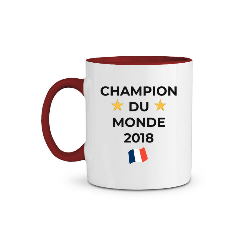 Mug en Céramique Bicolore - Champion du Monde 2018 (non-officiel)