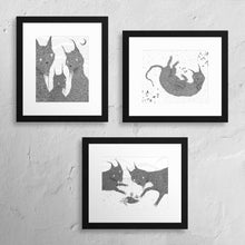 "Load image into Gallery viewer, Three 8 x 10"" Cat Print Set"