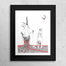 "Load image into Gallery viewer, ""Impaled Under a Funeral Moon"" Print"