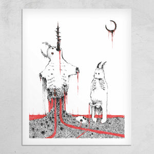 """Impaled Under a Funeral Moon"" Print"