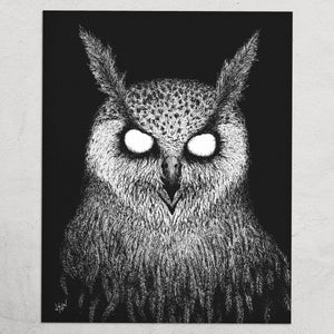 """The Owls are Not What They Seem"" 8 x 10"" Print"