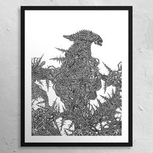 "Load image into Gallery viewer, ""Xenomorphic"" - BHARATADANU 11 x 14"" print"