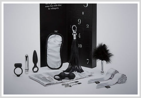 FIFTY SHADES OF GREY PLEASURE OVERLOAD 10 DAYS OF PLAY COUPLE'S KIT