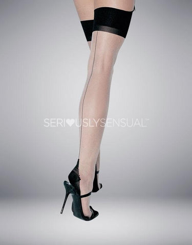 Cuban Heel Stockings - Plus Size