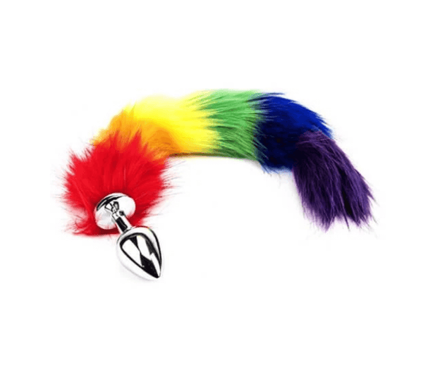 FURRY FANTASY RAINBOW TAIL BUTT PLUG