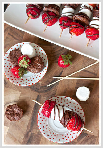 Strawberry Brownie Kebabs