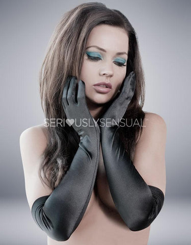 Astrid Gloves - Black - SeriouslySensual