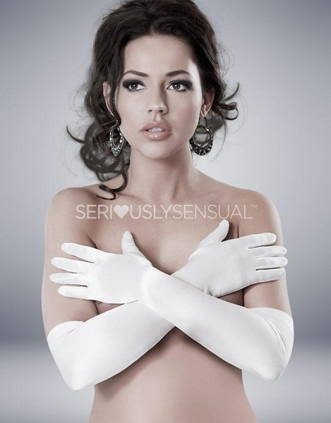 Astrid Gloves - White - SeriouslySensual