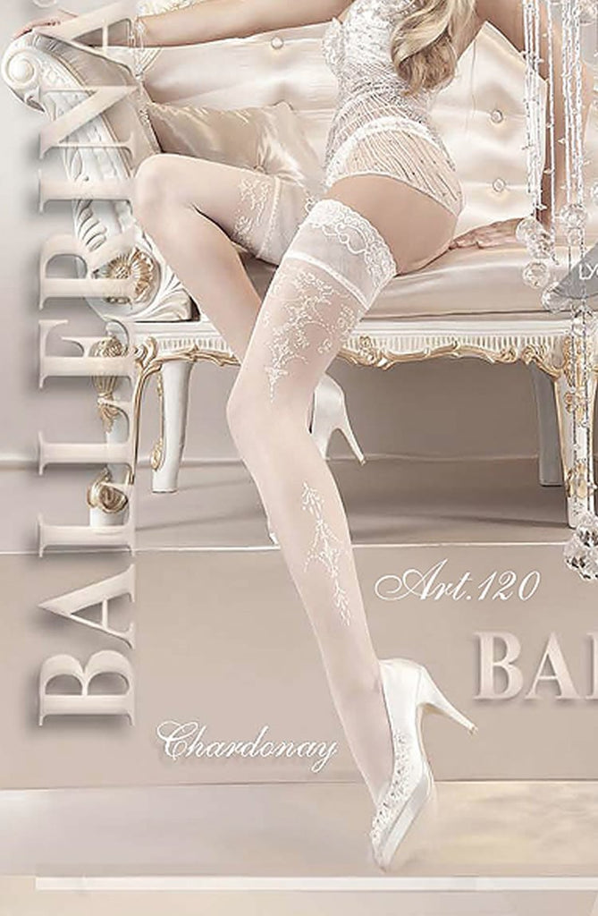 Ballerina 120 Hold Up Bianco - White - SeriouslySensual