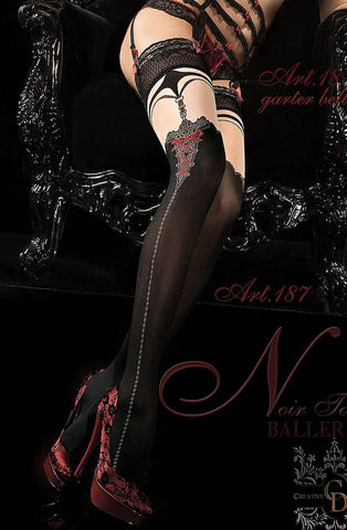 Ballerina 187 Hold Up Nero - Black - SeriouslySensual