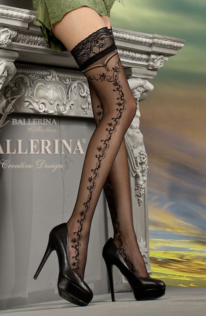 Ballerina 216 Hold Up Nero - Black - Lurex - SeriouslySensual