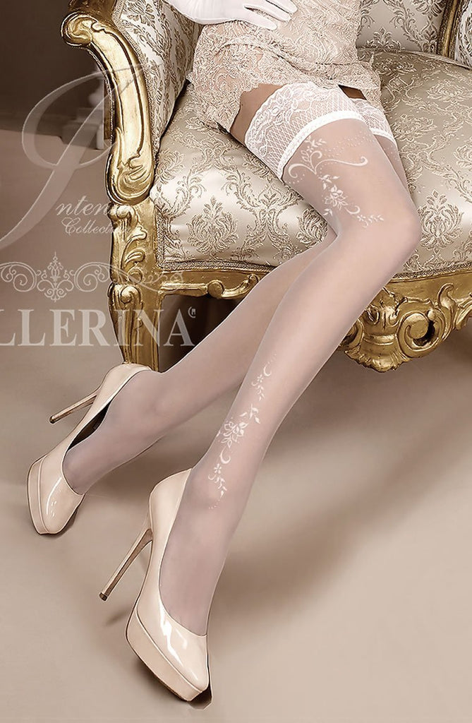 Ballerina 256 Hold Up Avorio - Ivory - SeriouslySensual