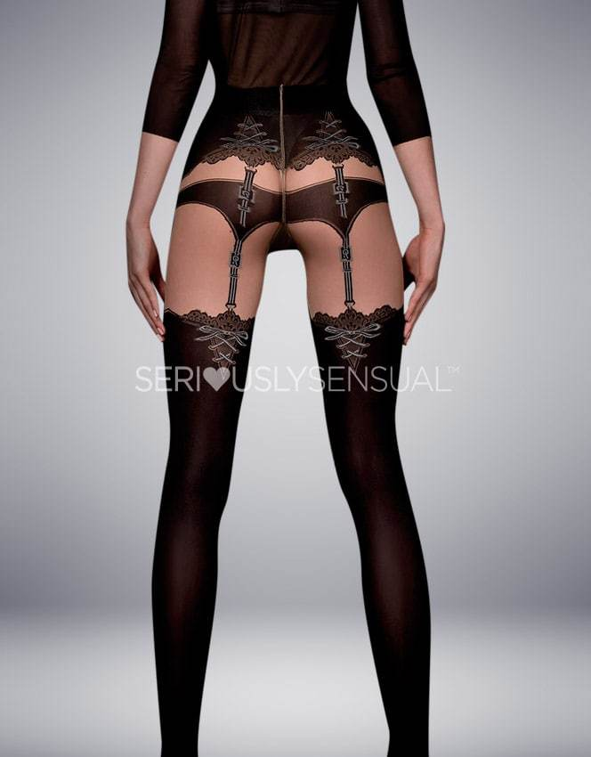 Ballerina 302 Tights Nero - Skin - SeriouslySensual