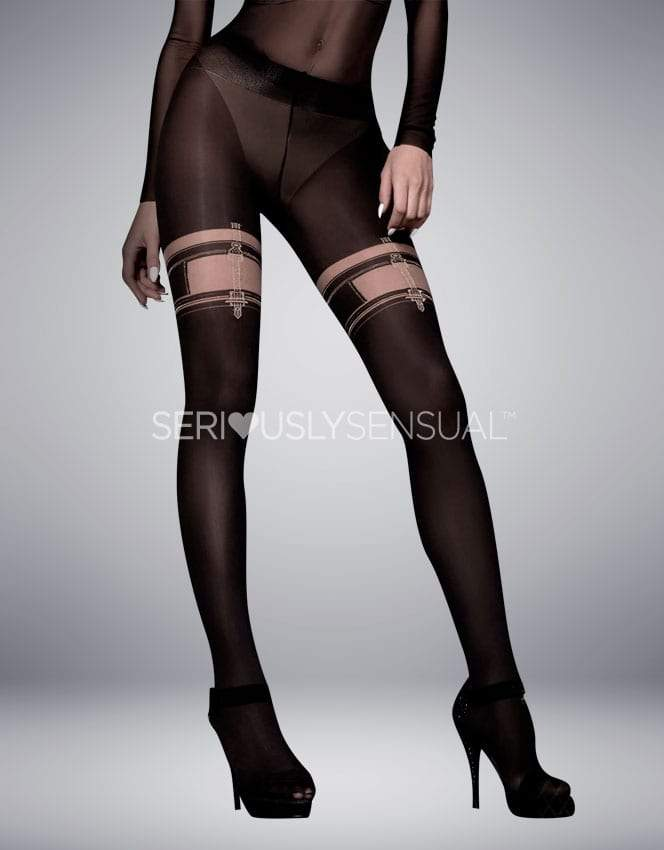 Ballerina 306 Tights Nero (Black)-Skin - SeriouslySensual