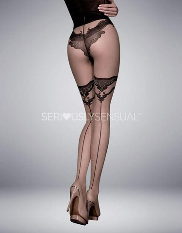 Ballerina 308 Tights Nero (Black)-Skin - SeriouslySensual