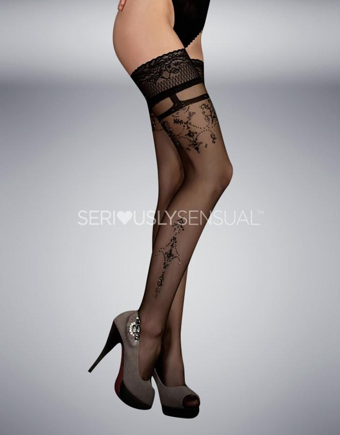 Ballerina 343 Hold Ups Nero (Black) - SeriouslySensual