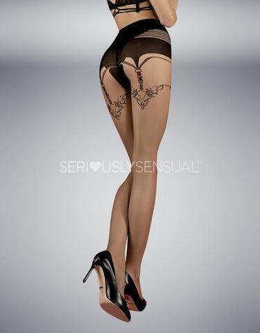 Ballerina 354 Tights Skin - Nero (Black) - SeriouslySensual