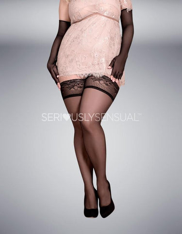 Ballerina 363 Hold Ups Nero (Black) - SeriouslySensual