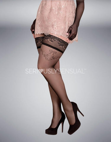 Ballerina 365 Hold Ups Nero (Black) - SeriouslySensual