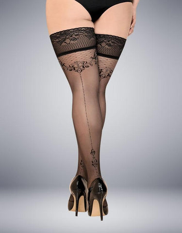 BALLERINA 438 HOLD UPS NERO (BLACK) - SeriouslySensual
