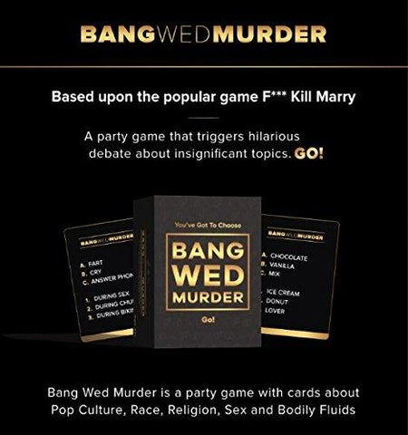Bang Wed Murder: F#@K, Marry, Kill Spin-off Adult Party Game