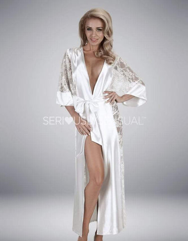 Beauty Night Bouquet White Gown - SeriouslySensual