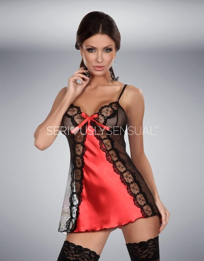 Beauty Night Michele Red Chemise - SeriouslySensual