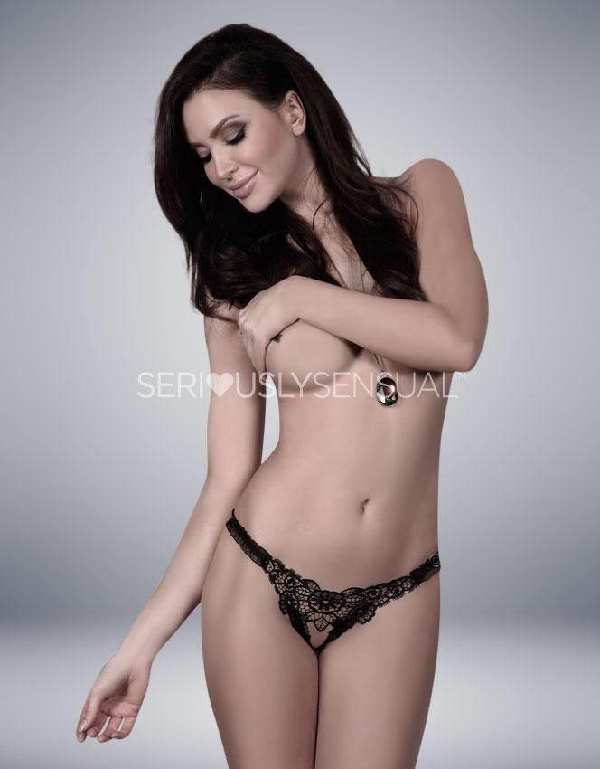 Beauty Night Mystique Black Thong - SeriouslySensual