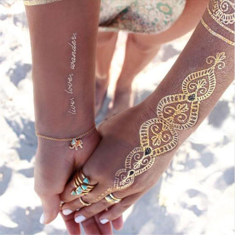 Bohemian Metallic Temporary Tattoos - SeriouslySensual