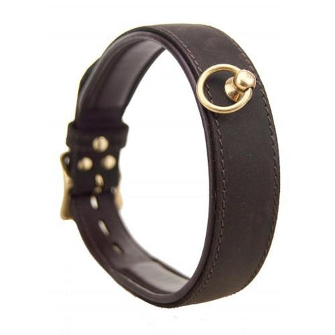 Bound Nubuck Leather Choker with O Ring