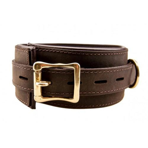Bound Nubuck Leather Collar - SeriouslySensual