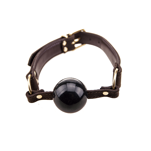 Bound Nubuck Leather Solid Ball Gag - SeriouslySensual