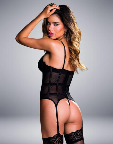 BUSTIER & G-STRING SET BLACK