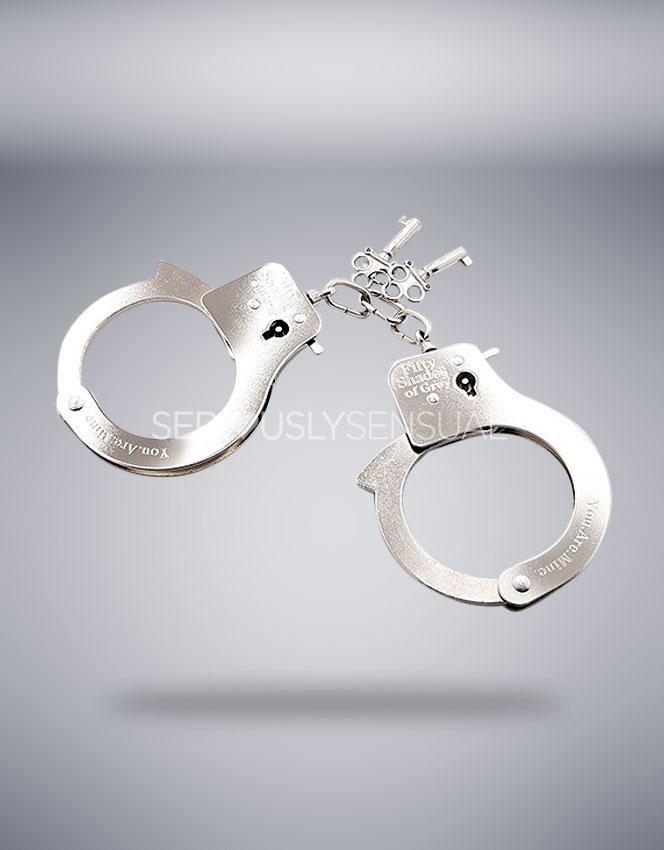 Fifty Shades of Grey You. Are. Mine. Metal Handcuffs - SALE - SeriouslySensual