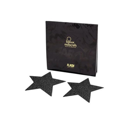 Flash Star Nipple Jewellery - Black - SeriouslySensual