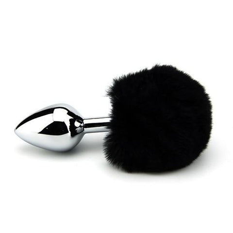 FURRY FANTASY BLACK BUNNY TAIL BUTT PLUG - SeriouslySensual