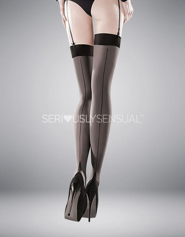 Gabriella Sensual Cruze Black Line Stockings - SeriouslySensual
