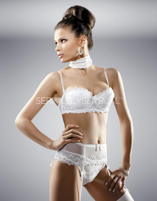 Gracya Madonna Bra and Thong Set - White - SeriouslySensual