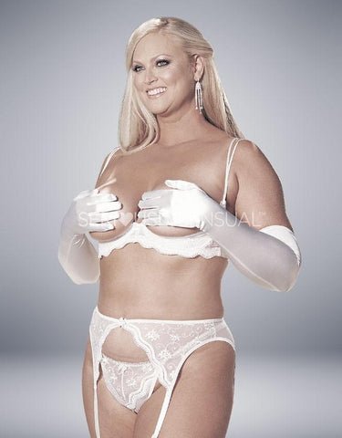 Intimate Attitudes Scalloped Garterbelt - White - SeriouslySensual