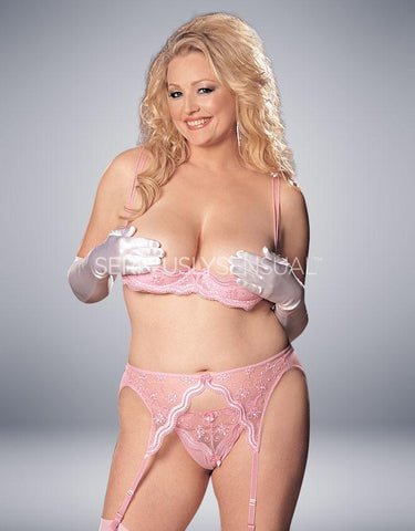 Intimate Attitudes Scalloped Shelf Bra - Pink - SeriouslySensual