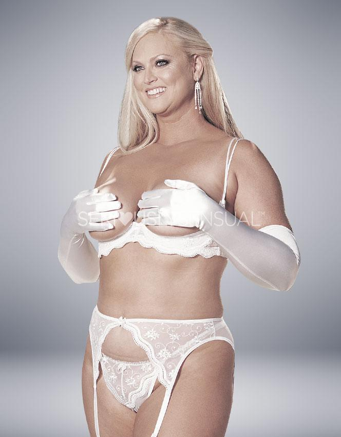 Intimate Attitudes Scalloped Shelf Bra - White - SeriouslySensual