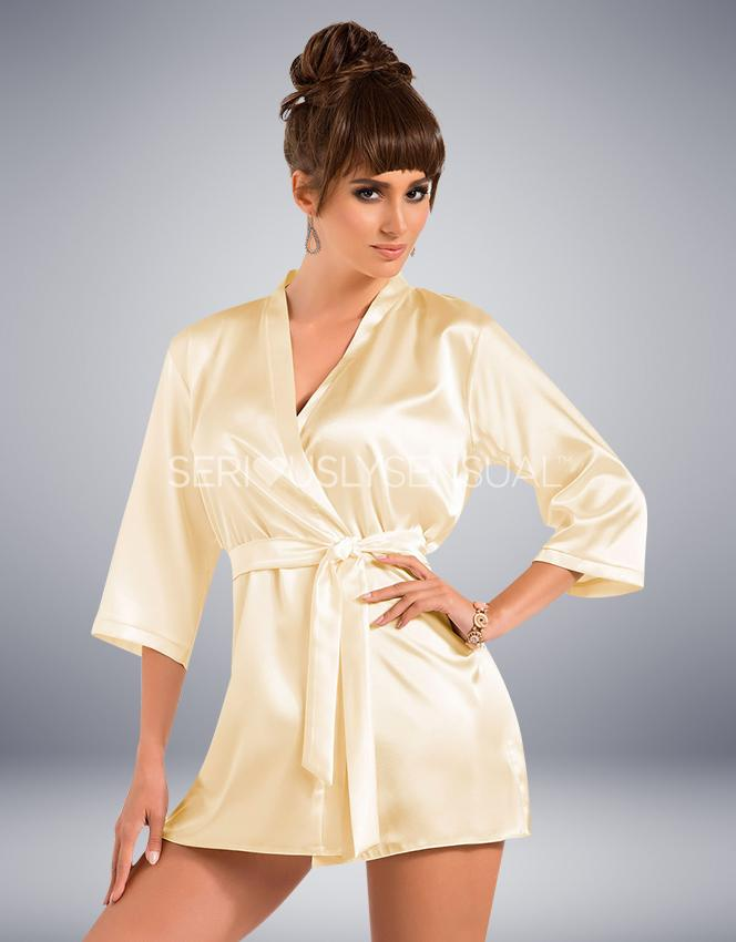 Irall Aria Dressing Gown Cream - SeriouslySensual