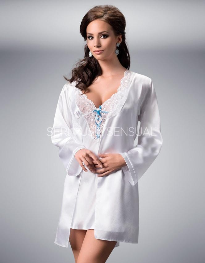 Irall Elsa Dressing Gown White - SeriouslySensual