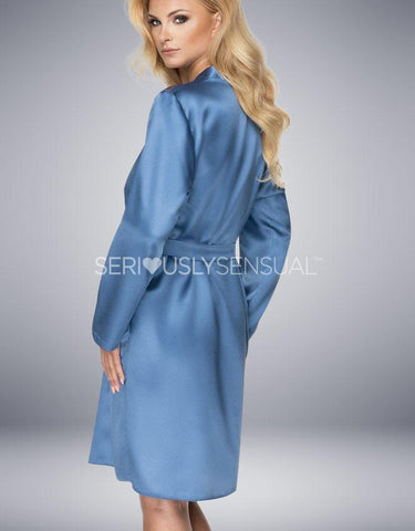 IRALL SAPPHIRE DRESSING GOWN AZURE - SeriouslySensual