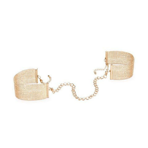 Magnifique Metallic Chain Handcuffs - Bracelets - Gold - SeriouslySensual
