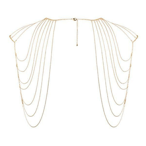 Magnifique Metallic Chain Shoulders and Back Jewellery - Gold