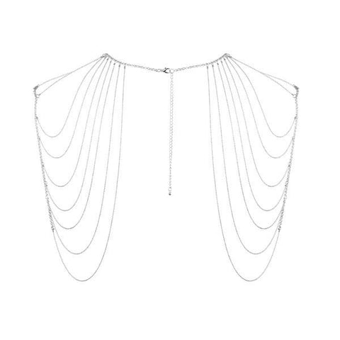 Magnifique Metallic Chain Shoulders and Back Jewellery - Silver