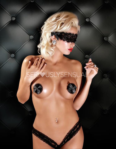 Matching Lace Mask - Black - SeriouslySensual